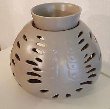 große graue Duftlampe / Aromalampe aus Keramik für Duftöl