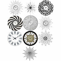 10 Assorted Wall Mountable Clocks Large Modern Analogue Kitchen Time Decoration