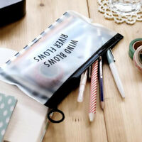 Clear Makeup Pouch Zipper Toiletry Holder Pencil Pen Case Cosmetic Bag Fashion