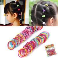 6X Frau Mädchen Elastische Haarbänder Silk Satin Haargummis Pferdeschwanz F6R5