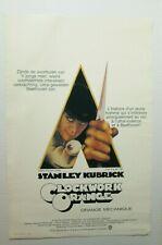 original A CLOCKWORK ORANGE 1972 Belgian movie poster Stanley Kubrick classic