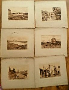 6 19th Century  Engravings  Berwick on Tweed  By W.GREEN.  CATTY AND DOBSON