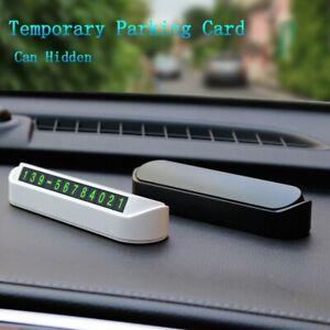 Car Accessories Hidden Provisional Parking Card Luminous Telephone Number Plate