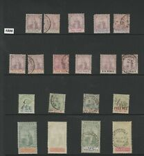 TRINIDAD- 1883-1921 COLLECTION - INCL  HIGH CAT VALUE STAMPS -£2100+ 4 pages