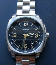 Nixon Charger Watch with 42mm Black Stamped Face & Silver Breclet