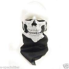 SET OF 4 Skull Bandana Motorcycle Biker Face Mask Neck Warmer Scarf 100% Cotton