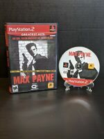 Max Payne, Greatest Hits (Sony PlayStation 2, PS2, 2001)*No Manual*Tested*Clean*