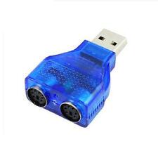 C17 USB Stecker auf 2x PS/2 PS2 Buchse Kabel Adapter Konverter für Maus Tastatur
