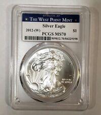 American Silver Eagle 2012 - W PCGS MS70
