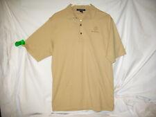Mercedes Benz embroidered Men's Polo shirt size Medium Tan Pima Cotton