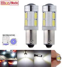 2 x BAY9S H21W Car LED Light 5630 SMD Auto Side Parker Bulb Lamp White 12V DC
