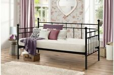 Black Elegantly Crafted Metal Day Bed For A Sophisticated Look and Feel