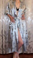 Damen Morgenmantel Kimono Dessous Satin Nachtwäsche Lang Glänzend Rose Gold