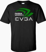 Nvidia Geforce gtx EVGA T Shirt Logo Men's Black,White