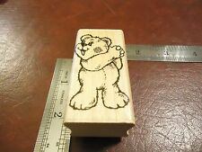 THE BIG WINNER TEDDY BEAR RUBBER STAMP TEDDY BEAR VICTORY GIVE HIM A HAND