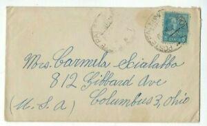 1945 Palermo Italy on 5c PREXIE Single Franking to Columbus Ohio