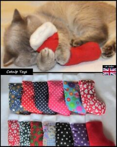 Catnip Cat Toys. EXTRA STRONG! Stocking / Sock. Present or Cat's Christmas Gift.
