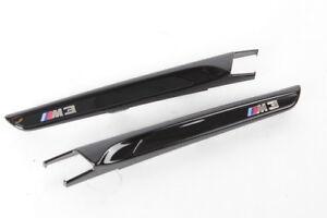 BMW OEM M3 F80 Front Fender Air Intake High Gloss Black Shadow Line SET OF 2 NEW