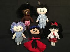 "Cute ""Horror"" Dolls – 5 Doll Set w/ Lobster Clasp: Dracula ; Morbie Doll + More"