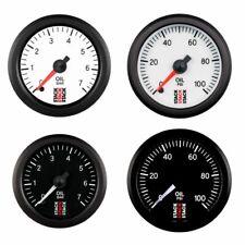 Stack Professional Oil Pressure Gauge - Black Dial Face - 0-100 Psi