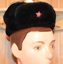 Russian Soviet Red Army and Police Winter Hat Fur-Cap USHANKA uniforms size 54