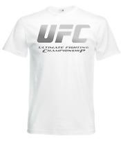 UFC Shirt Weiss Gr. M Logo Silber Kickboxing MMA Boxen Fighting Fitness