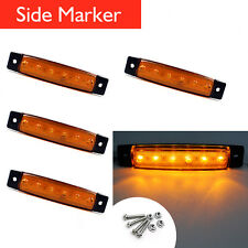 4x 6 LED Side Marker Indicators Tail Lights Lamp for Truck Trailer Boat Bus 12V