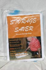 5 Pack, Storage Saver, vacuum storage bag, clear with blue valve and zipper