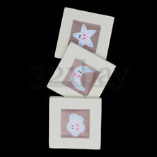 3 Dollhouse Miniature Paintings Dollhouse Nursery Accessory Pictures Wall Decor