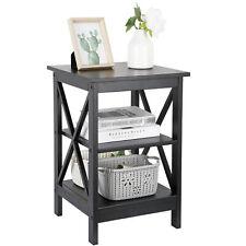 Living Room Bedroom Furniture Black Stand End Table Sofa Side End Storage Shelf
