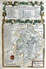 WARWICKSHIRE WARWICK COVENTRY  BY EMANUEL BOWEN GENUINE ANTIQUE MAP c1731