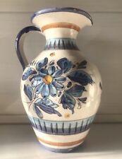Keramik Milchkrug Kanne Karaffe Blumenvase Deko Floral Vintage Landhaus Shabby