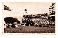 CRONULLA BEACH  & Park South SURF CLUB SLSC c.1950 rppc Sydney AUSTRALIA