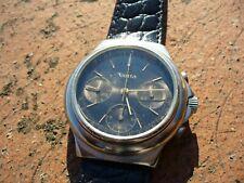 Orologio cronografo vintage VETTA 3 contatori manuale tasti a pompa 38mm raro