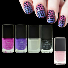 5pcs Nail Stamping Polish White Black Red Purple & Pink Peel-Off Liquid Tape Kit