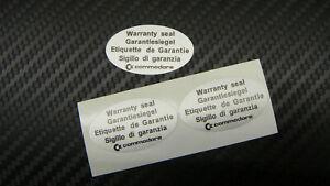 Commodore Amiga  A1200, A500, A600, C64 reproduction warranty labels, Set of 2