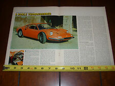 FERRARI DINO 206 GT  - ORIGINAL 1969 ARTICLE
