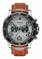NIXON The Ranger Chronograph Leather Watch NEW! A9402092 NEW! $350