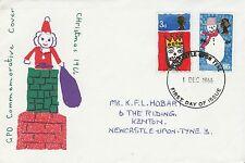 1966 GB Christmas Stamp Commemorative Cover Newcastle PMK Ref MT86