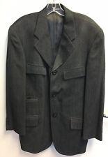 Giuliano Fujiwara 4 Pocket Jacket Made in Italy Charcoal Gray Great Condition