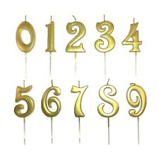 Gold Number Candles Happy Birthday Cake Candle Decoration Number Numeral 3-inch