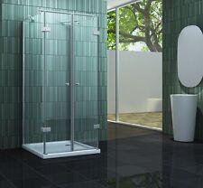CONFINO 80 x 80 x 200 cm Glas U Duschkabine Duschtasse Dusche Duschabtrennung