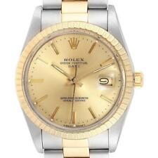 Rolex Date Mens Steel Yellow Gold Oyster Bracelet Mens Watch 15053
