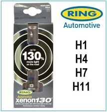 Pair of Ring Xenon 130 Brighter H4 Headlight Car Van Bulbs