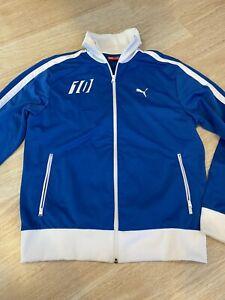 Puma Zip Up Jacket Italia Blue White - Mens Sz M