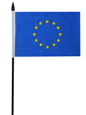 "European Union (EU) Small Hand Waving Flag 6"" x 4"""