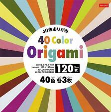 Origami DAISO Paper Craft 40 colors 120 sheets folding w/ manual child Japan F/S
