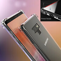 Samsung Galaxy Note 9 Shockproof 360°Tpu Clear Case Cover Screen Protector ilo