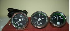 Willys MB Jeep Ford GPW Gauges Kit  Temperature Oil Pressure Ampere chromebeze