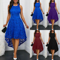 Women Formal Lace Maxi Dress Evening Party Cocktail Prom Irregular Dress Sightly